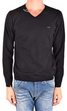Sun 68 Men's Mcbi286182o Black Wool Sweater.