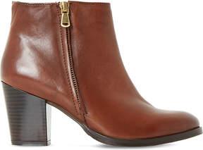 Dune Ladies Tan Elegant Powars Leather Ankle Boots