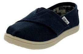 Toms Toddlers Tiny Classics Navy Canvas Casual Shoe.