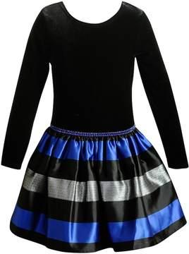 Youngland Girls 4-6X Faux-Velvet Dress