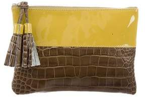 Suno Patent & Embossed Leather Clutch w/ Tags