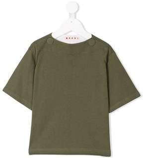 Marni button detail T-shirt
