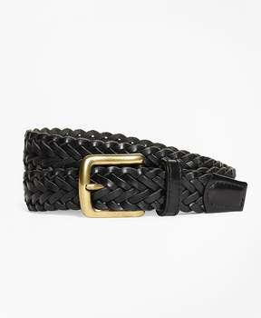 Brooks Brothers Braided Leather Belt