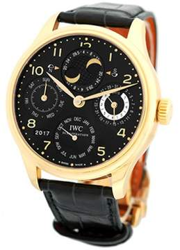 IWC Portugieser IW 5021 18K Rose Gold Automatic 44.2mm Mens Watch