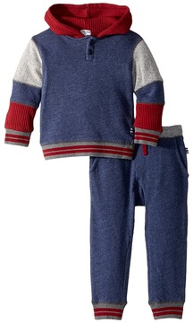 Splendid Littles Mixed Fabric Hoodie Set Boy's Active Sets