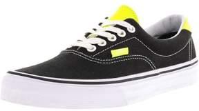 Vans Era 59 Neon Leather Black / Yellow Ankle-High Canvas Skateboarding Shoe - 11M 9.5M
