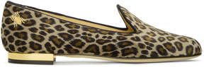 Charlotte Olympia Multicolor Leopard Velvet Nocturnal Loafers