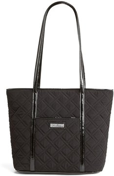 Vera Bradley Vera Trimmed Quilted Small Tote - CLASSIC BLACK - STYLE