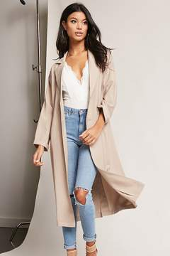 Forever 21 Oversized Single-Breasted Trench Coat