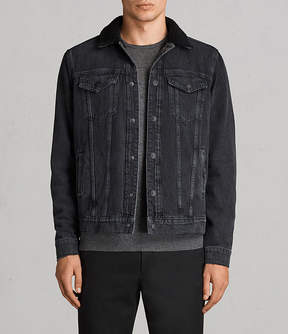 AllSaints Barred Denim Jacket