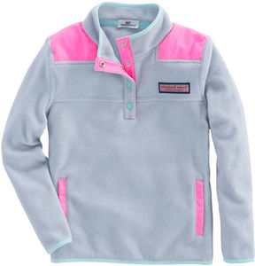 Vineyard Vines Girls Snap Placket Fleece