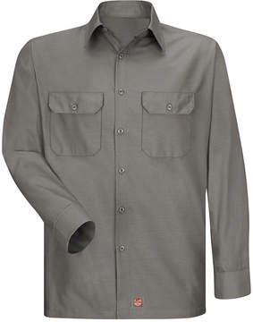 JCPenney Red Kap Long-Sleeve Solid Ripstop Shirt