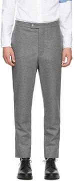 Moncler Gamme Bleu Grey Classic Wool Trousers