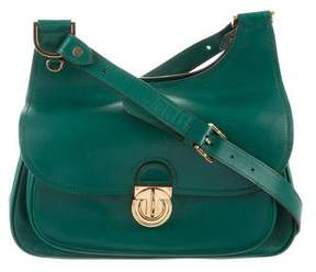 Tory Burch Leather Shoulder Bag - GREEN - STYLE
