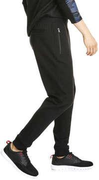 Joe Fresh Men's Zip Track Pant, JF Black (Size XXL)