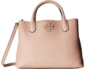 Tory Burch McGraw Triple-Compartment Satchel Satchel Handbags - PINK QUARTZ - STYLE