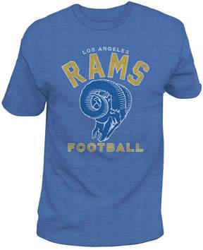 Authentic Nfl Apparel Men's Los Angeles Rams Midfield Retro T-Shirt