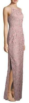 Aidan Mattox Lace Column Dress