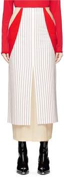 Aalto Jersey underlay stripe cotton canvas maxi pencil skirt