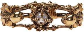 Alexander McQueen Gold Two Skeletons Bracelet