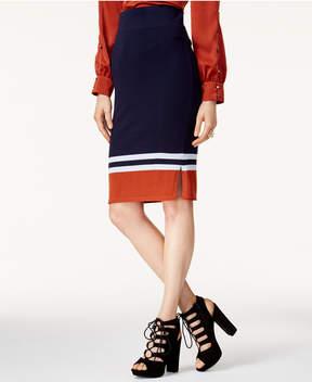 Bar III Striped Sweater Skirt, Created for Macy's