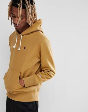 Champion Hoodie With Small Logo In Stone