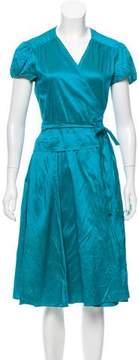 Calypso Iridescent Wrap Dress