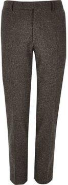 River Island Mens Brown wool skinny suit pants