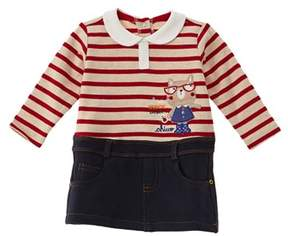 Chicco Girls' Blue & Red One-piece Polo & Skirt.
