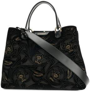 Emporio Armani cut out floral tote bag