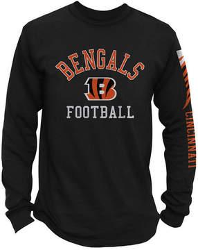 Authentic Nfl Apparel Men's Cincinnati Bengals Spread Formation Long Sleeve T-Shirt