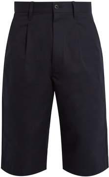 Junya Watanabe Pleat-detail cotton-twill shorts