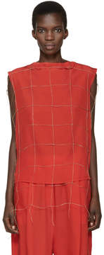 Damir Doma Red Net Tetrix Blouse