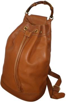 Gucci Bamboo leather backpack - BROWN - STYLE