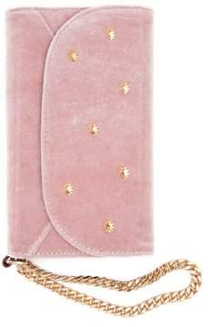 Sonix Women's Embellished Velvet Iphone X Wristlet - Pink