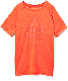 Reebok Alarming Orange 'Reebok' Space Dye Cationic Tee - Boys