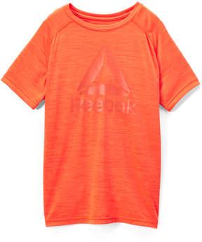 Reebok Alarming Orange 'Reebok' Space Dye Cationic Tee - Boys