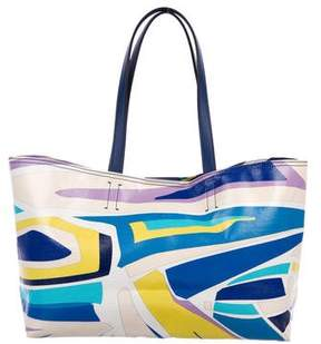 Emilio Pucci Printed Coated Canvas Tote