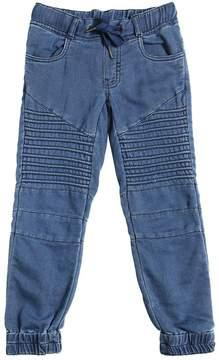 Molo Denim Effect Biker Cotton Sweatpants