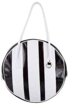 adidas Striped Leather Shoulder Bag