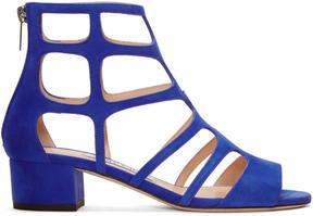Jimmy Choo Blue Suede Ren Sandals
