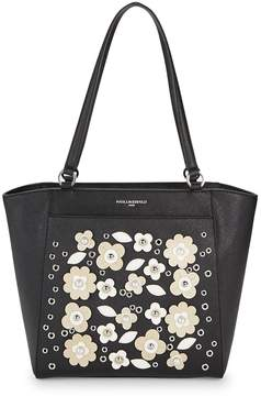 Karl Lagerfeld Paris Women's Willow Flower Tote