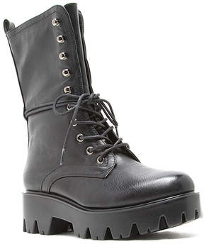 Qupid Black Russo Lace-Up Boot - Women