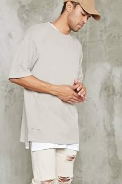 21men 21 MEN Distressed Longline Sweatshirt