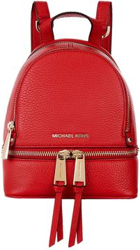Michael Kors Mini Rhea Zip Backpack - RED - STYLE