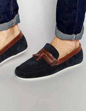 Red Tape Tassel Loafer In Blue Suede