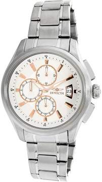 Invicta Men's Specialty 1481 Silver Stainless-Steel Plated Swiss Chronograph Dress Watch