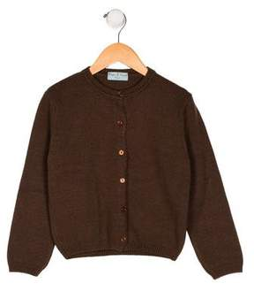 Papo d'Anjo Girls' Button-Up Wool Cardigan