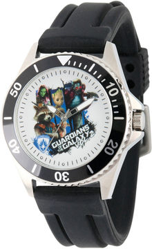 Marvel Guardian Of The Galaxy Mens Black Strap Watch-Wma000100