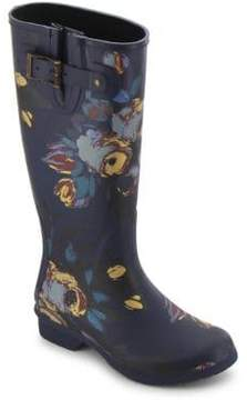 Chooka Nina Printed Matte Rubber Tall Rain Boots